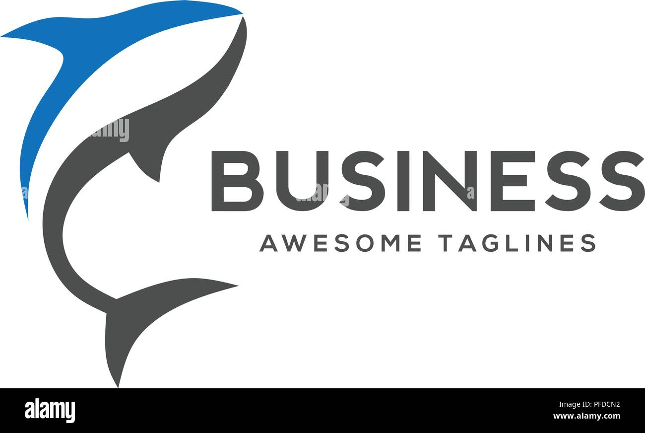 fish logo template creative shark fish vector template fishing