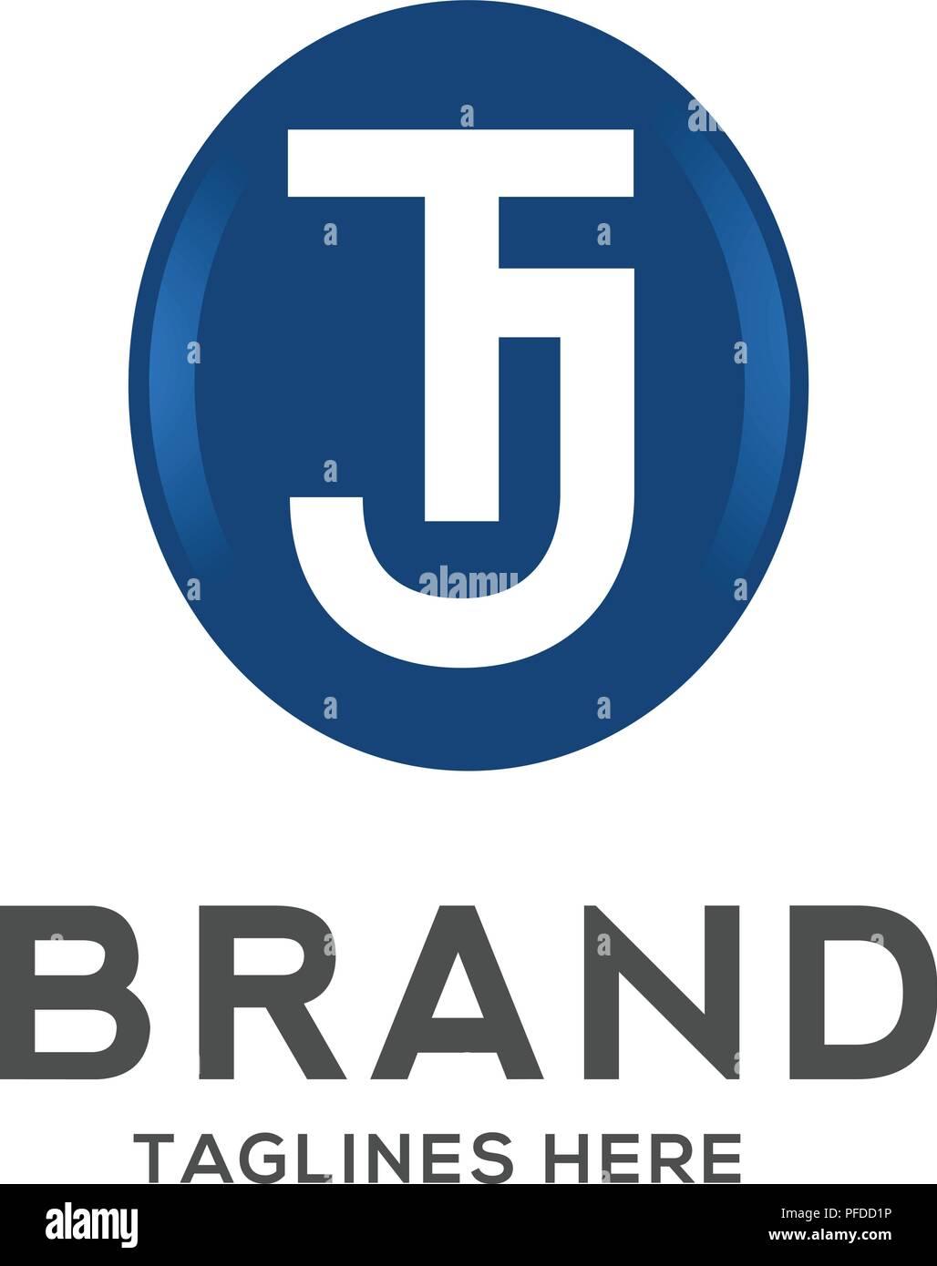 T And J Designs.Tj Letter Logo Design Vector Illustration Template T Letter