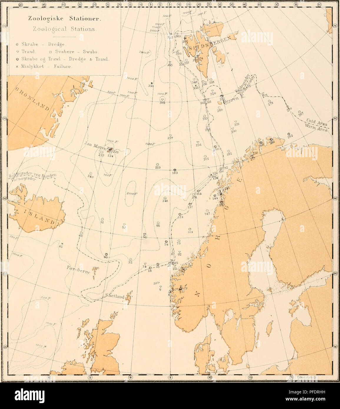 . Den Norske Nordhavs-expedition, 1876-1878. Scientific expeditions; Marine animals -- Norwegian Sea; Marine animals -- Arctic regions; Norwegian Sea. Norske Mordliavs-UxpeditiaB.. fim /input, Øttmaatiiiip hOuAtisUtll. Krftliiuiia,. Please note that these images are extracted from scanned page images that may have been digitally enhanced for readability - coloration and appearance of these illustrations may not perfectly resemble the original work.. Mohn, Henrik, b. 1835; Sars, G. O. (Georg Ossian), 1837-1927; Friele, Herman, 1838-; Bonnevie, Kristine. Christiania, Grøndahl & søns bogtrykk - Stock Image
