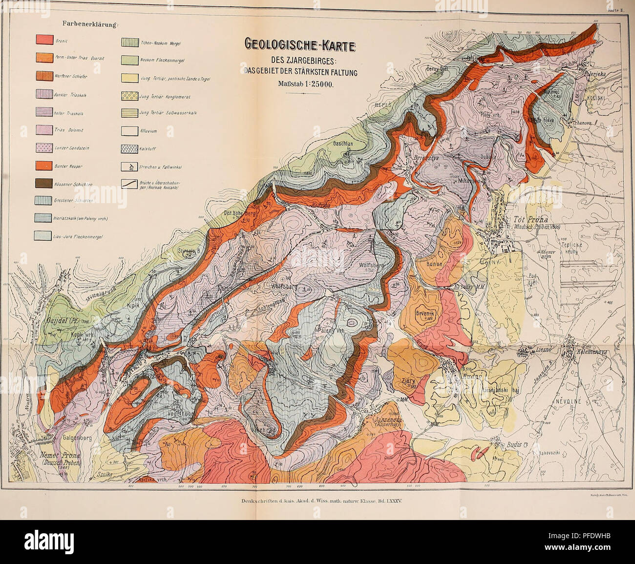 . Denkschriften - Österreichische Akademie der Wissenschaften. Vetters,!!: Geologie des Zjai-g'etiirg-,. Please note that these images are extracted from scanned page images that may have been digitally enhanced for readability - coloration and appearance of these illustrations may not perfectly resemble the original work.. Akademie der Wissenschaften in Wien. Mathematisch-Naturwissenschaftliche Klasse. Wien, New York, Springer - Stock Image