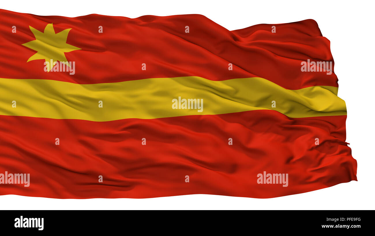 Toa Alta City Flag, Puerto Rico, Isolated On White Background - Stock Image