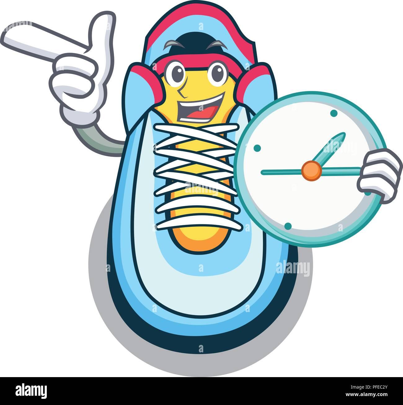 Cartoon Illustration Running Alarm Clock Stock Photos Cartoon