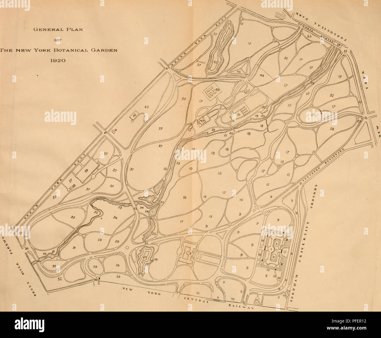 Map Of New York Botanical Garden.Descriptive Guide To The Grounds Buildings And Collections General