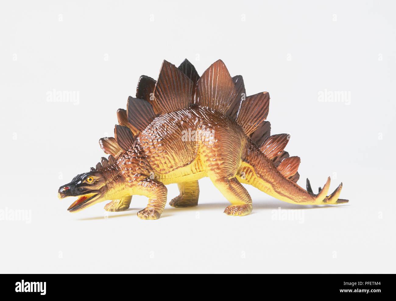 Model of a Stegosaurus - Stock Image