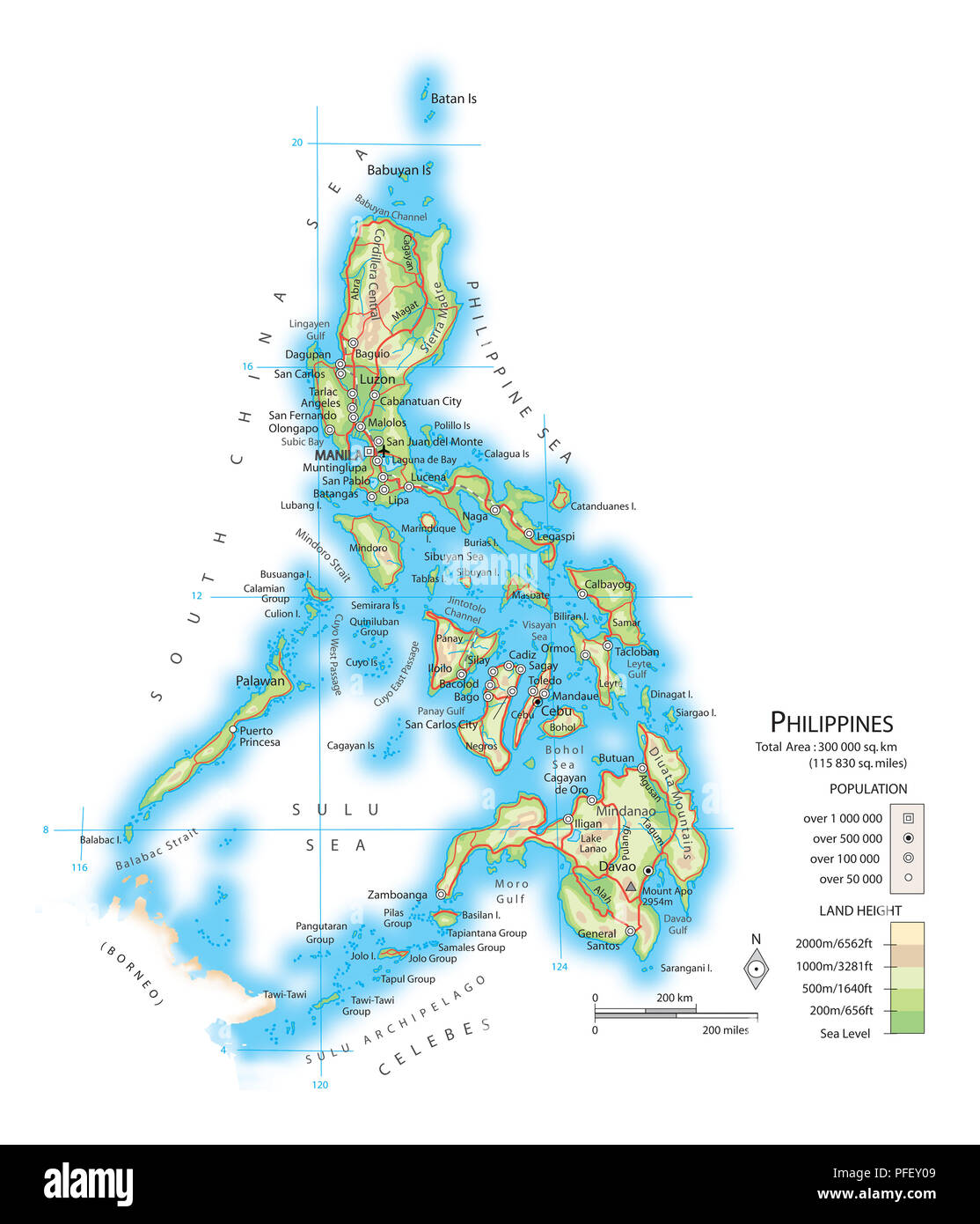 Map of the Philippines Stock Photo