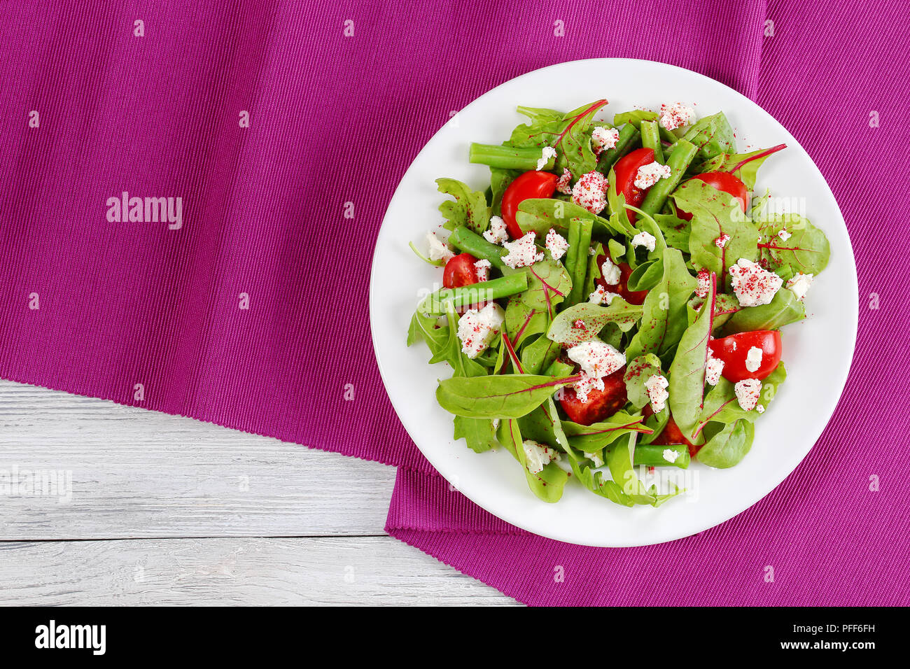 Outstanding Delicious Healthy Low Calories Salad Of Green Beans Chard Interior Design Ideas Clesiryabchikinfo