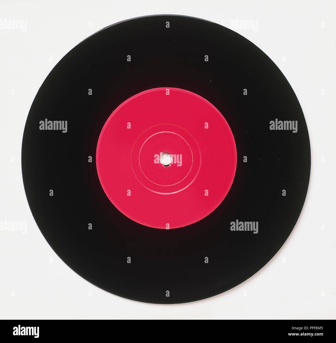 45 rpm vinyl record - Stock Image