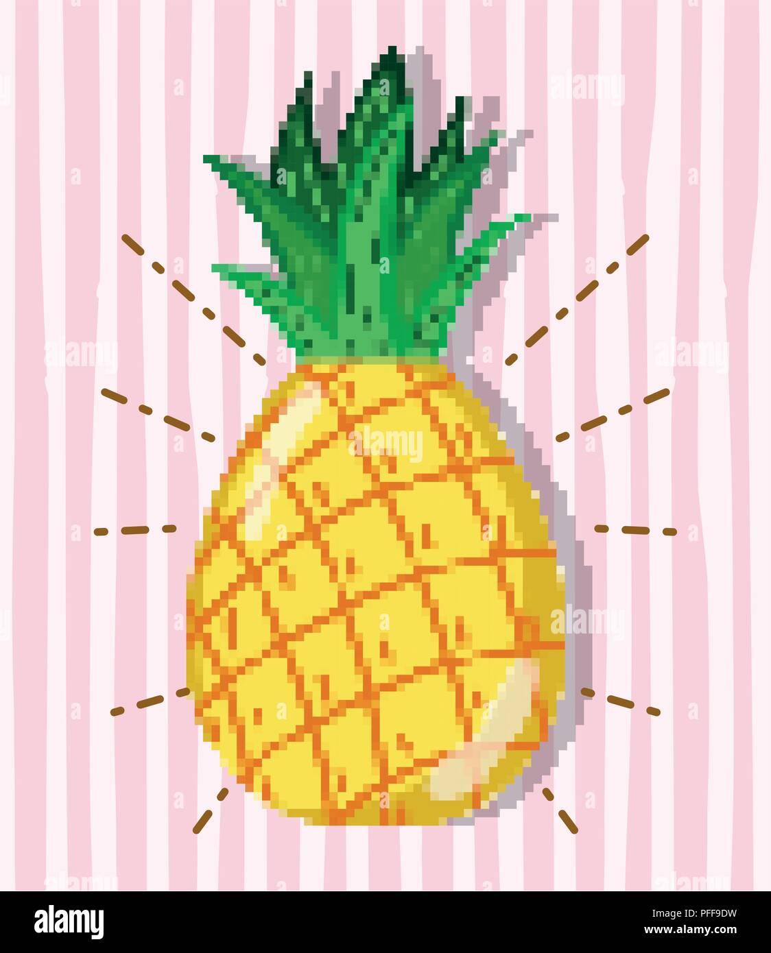 Farm Pixel Cartoons Stock Vector Art Illustration Vector