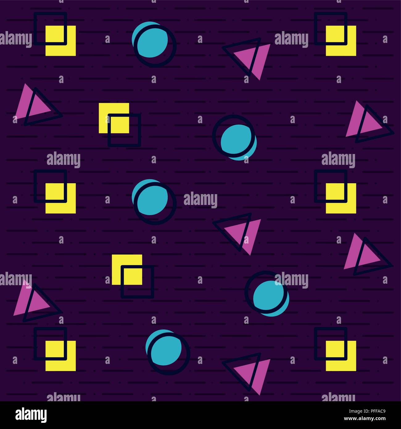 90s retro background pattern Stock Vector Art & Illustration