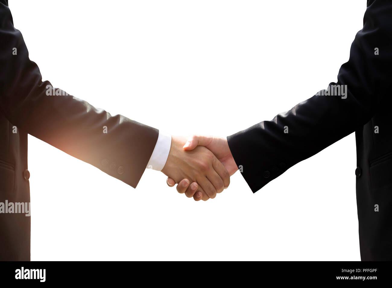 Business hand shake isolated  - Stock Image