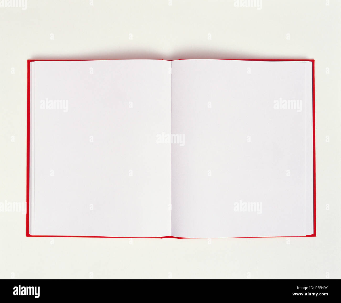 Open notepad with blank pages - Stock Image