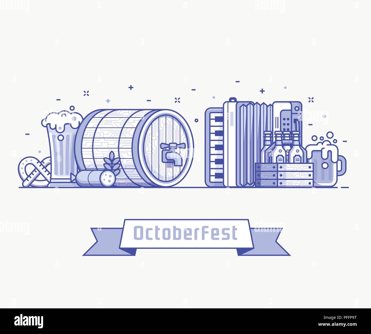 Oktoberfest Concept illustration - Stock Image
