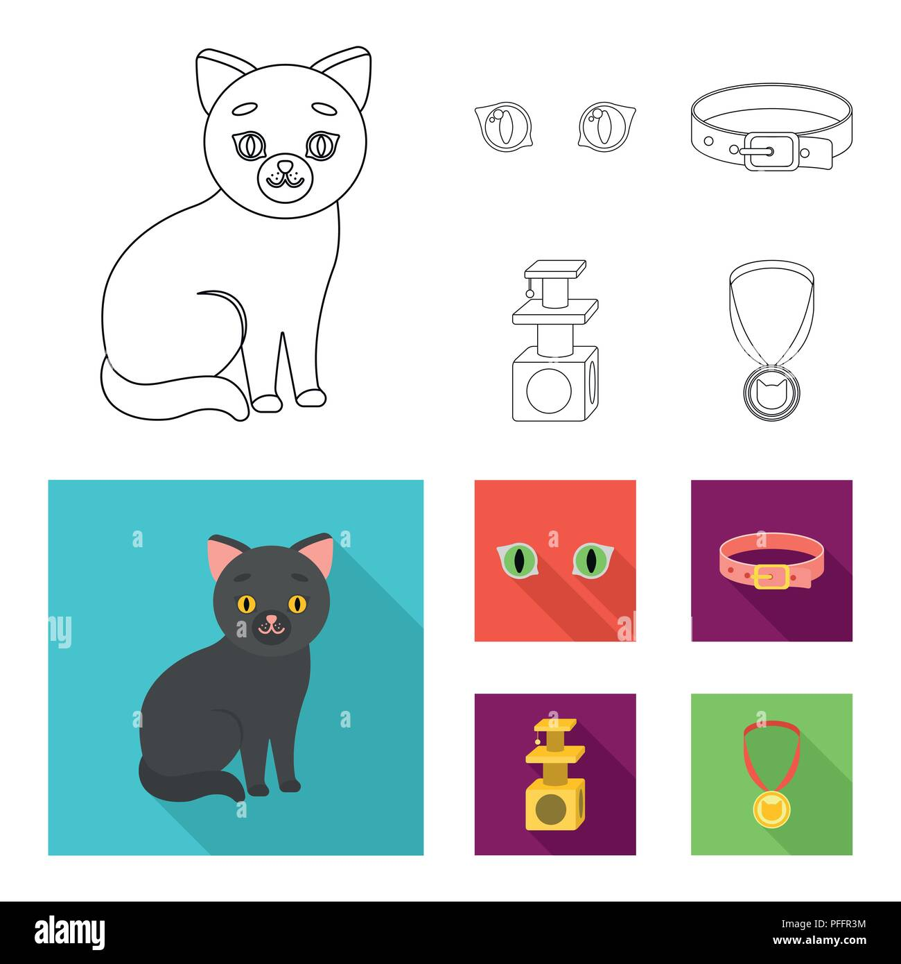 Pleasant Cat Eyes A Collar A House For A Cat A Medal On A Ribbon Home Interior And Landscaping Synyenasavecom