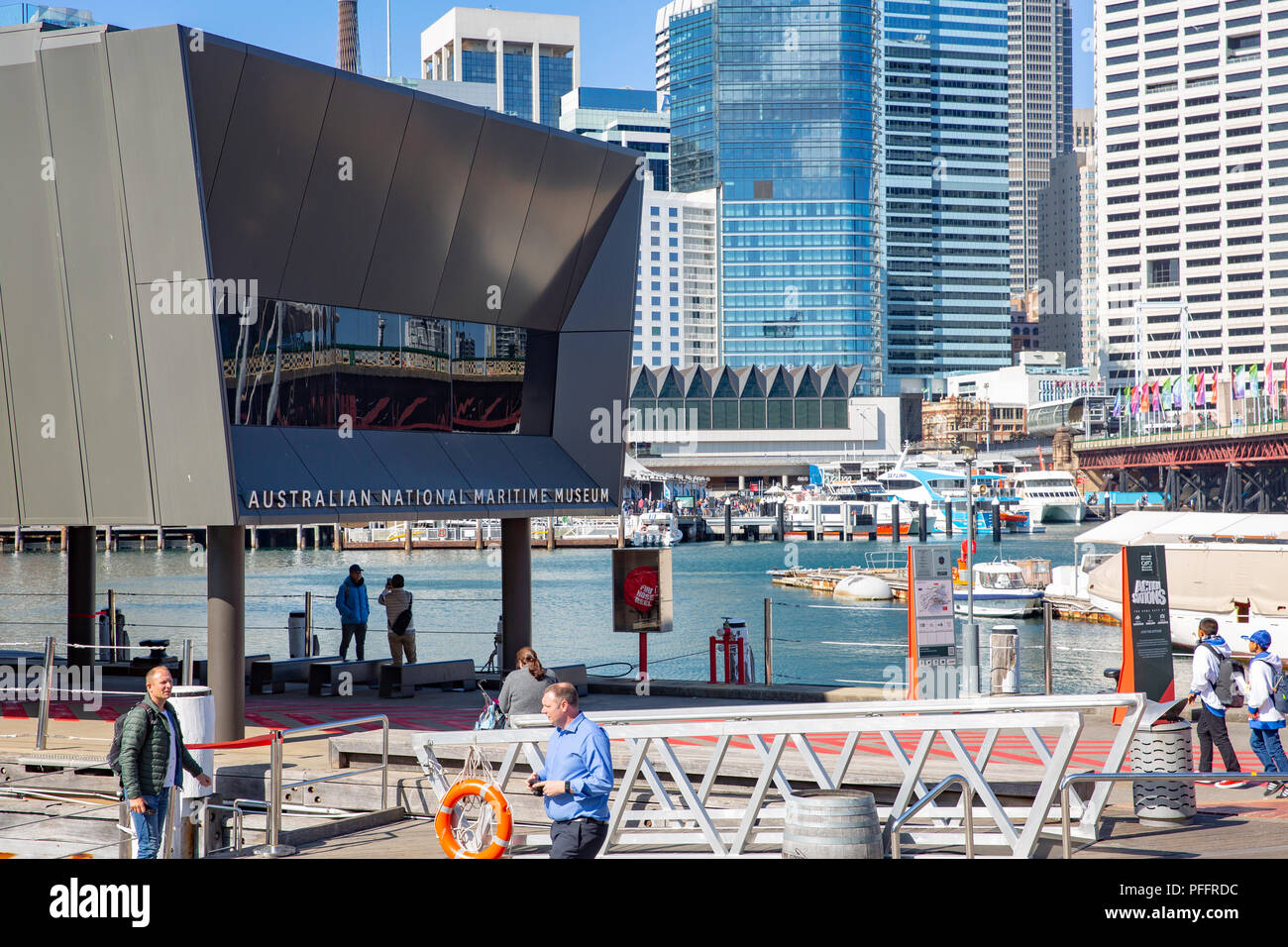 Australian National Maritime Museum in Darling Harbour,Sydney,Australia - Stock Image