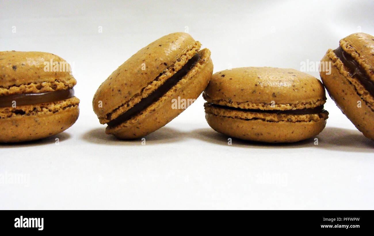 vegan cookies on a white table Stock Photo