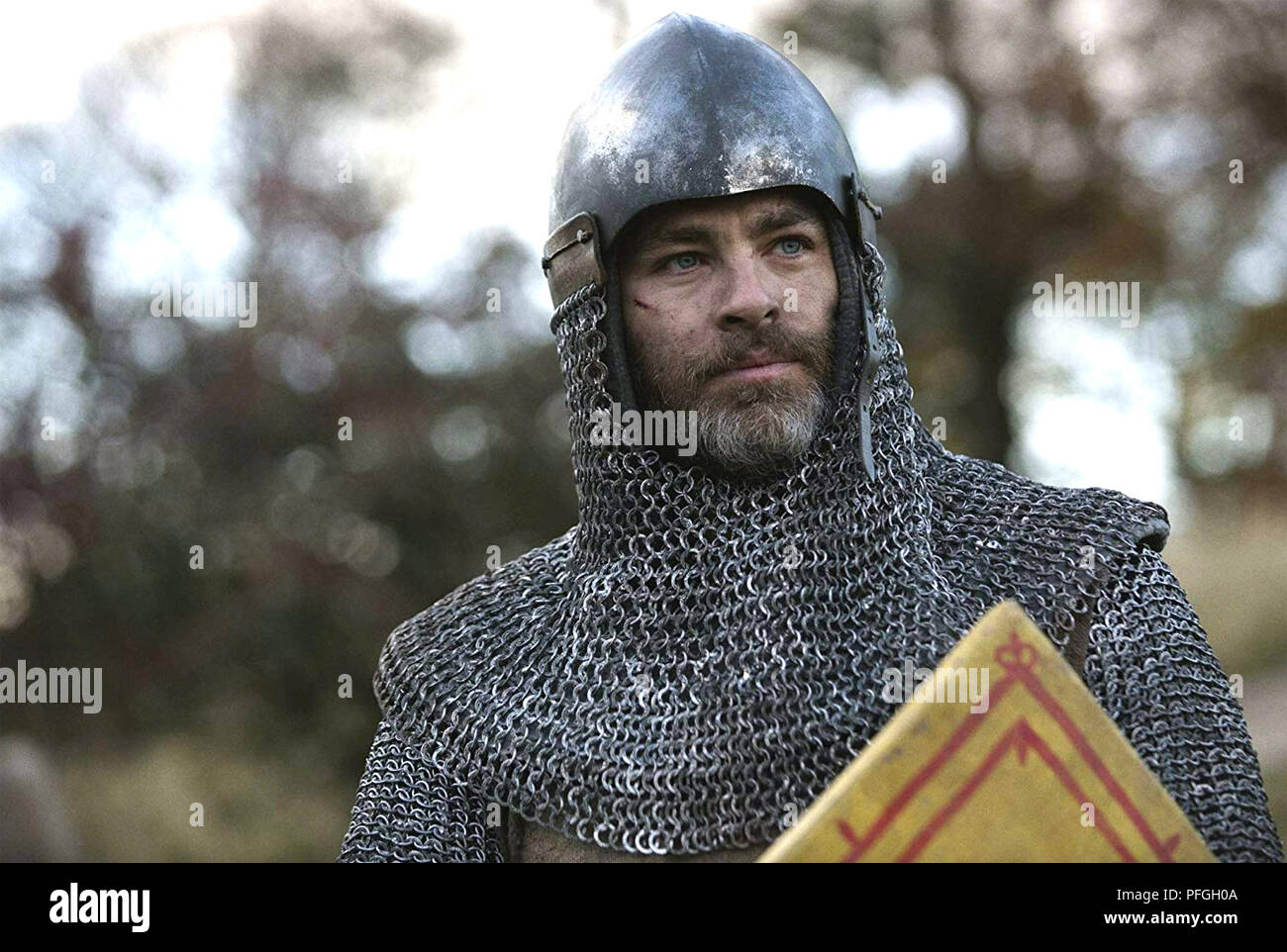 OUTLAW KING 2018 Sigma Films production with Chris Pine as Robert the Bruce - Stock Image