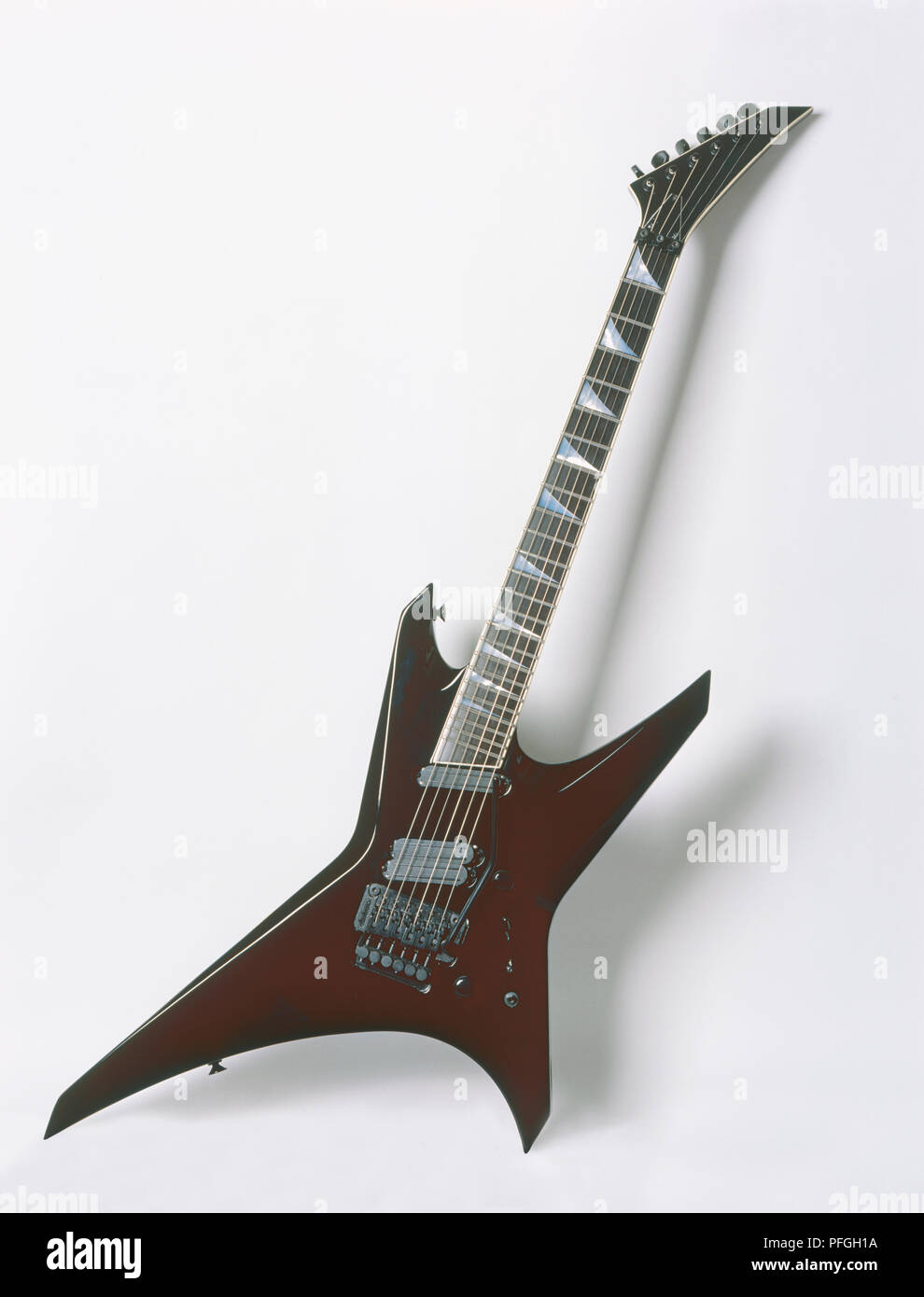 Jackson Professional Warrior, electric guitar made in Japan, 1990, front view Stock Photo