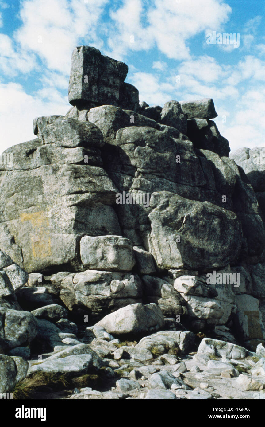 Poland, G?ry Stolowe, rock formations, The Stolowe Mountains National Park (Table Mountain National Park) - Stock Image