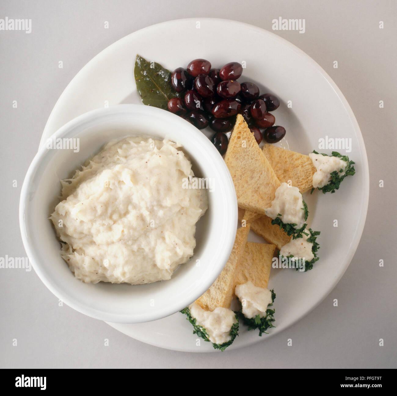 Brandade De Morue A Puree Made From Cod Cream And Garlic Served