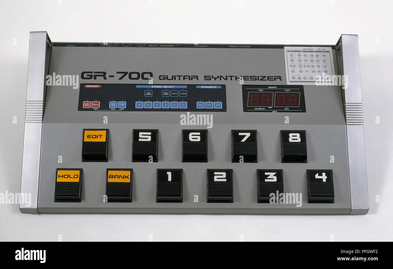 Guitar synthesizer - Stock Image