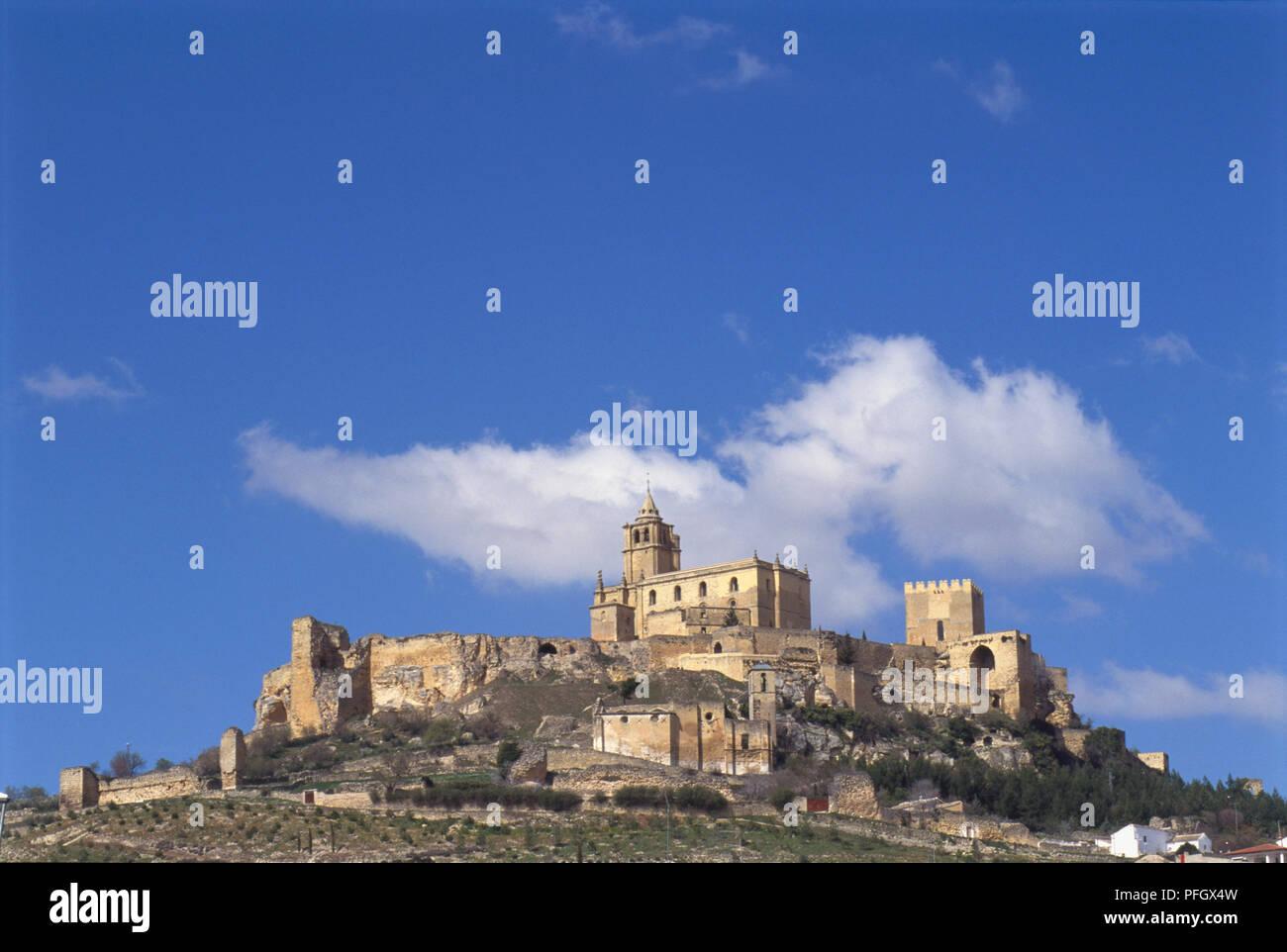 Spain Andalusia Moorish Castillo De La Mota Castle And Ruined
