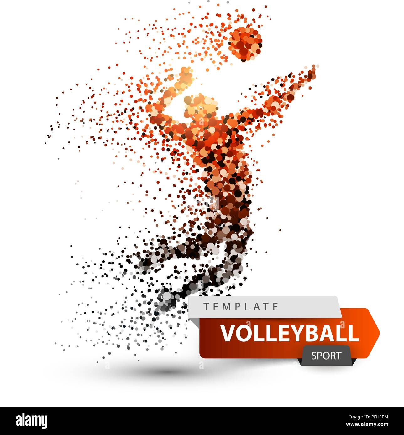 Volleyball player. Dot game illustration Stock Vector Art ...