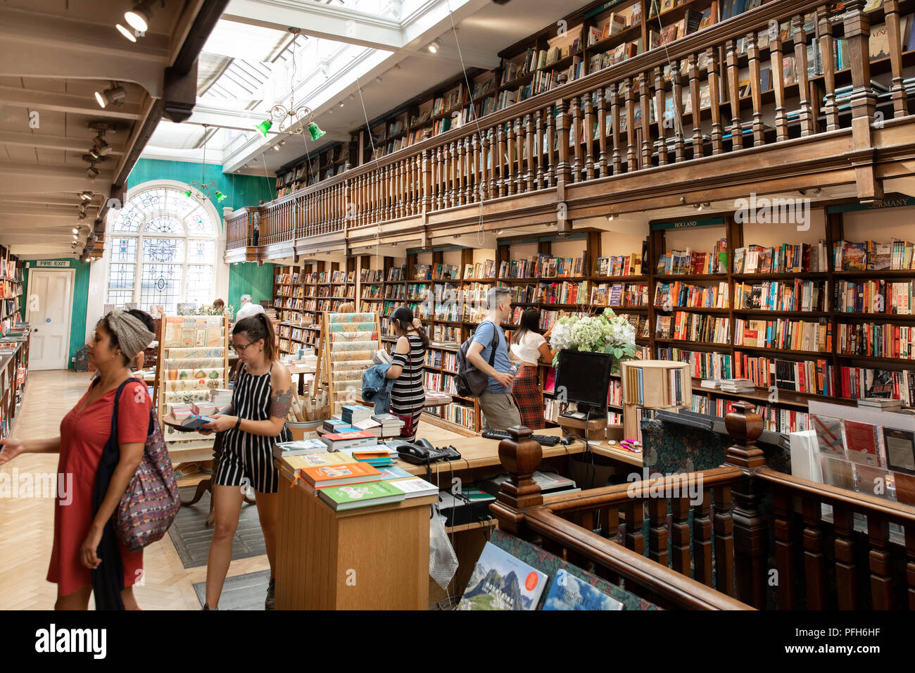Daunt book store in Marylebone High Street, London - Stock Image
