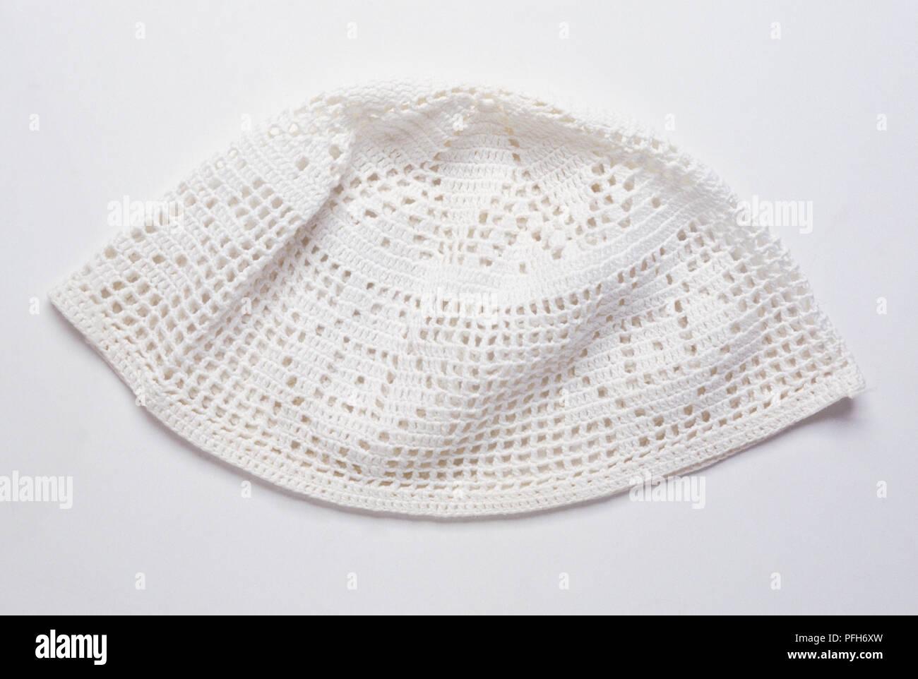 White Crochet Skull Cap Stock Photo 216122897 Alamy
