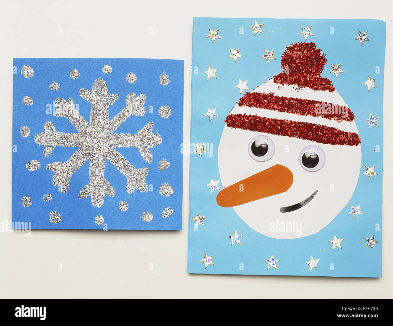 Glitter Snowflakes Christmas Cards