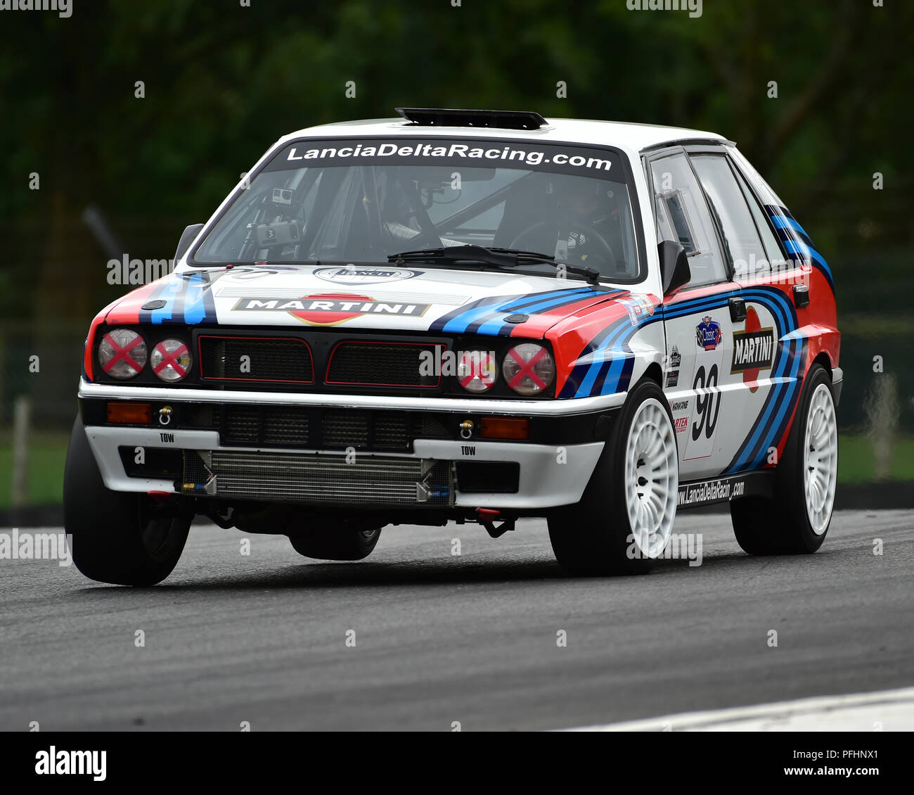 Richard Thurbin, Lancia Delta HF Integrale 16v, Italiano vs Inglese Allcomers, Festival Italia, Brands Hatch, Fawkham, Kent, England, Sunday 19th Augu - Stock Image