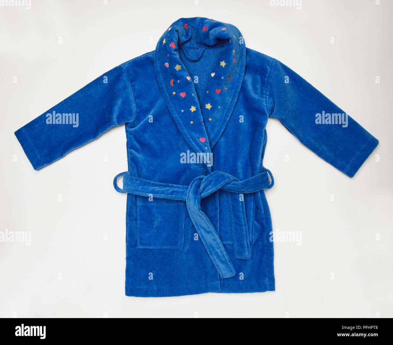Blue dressing gown. - Stock Image