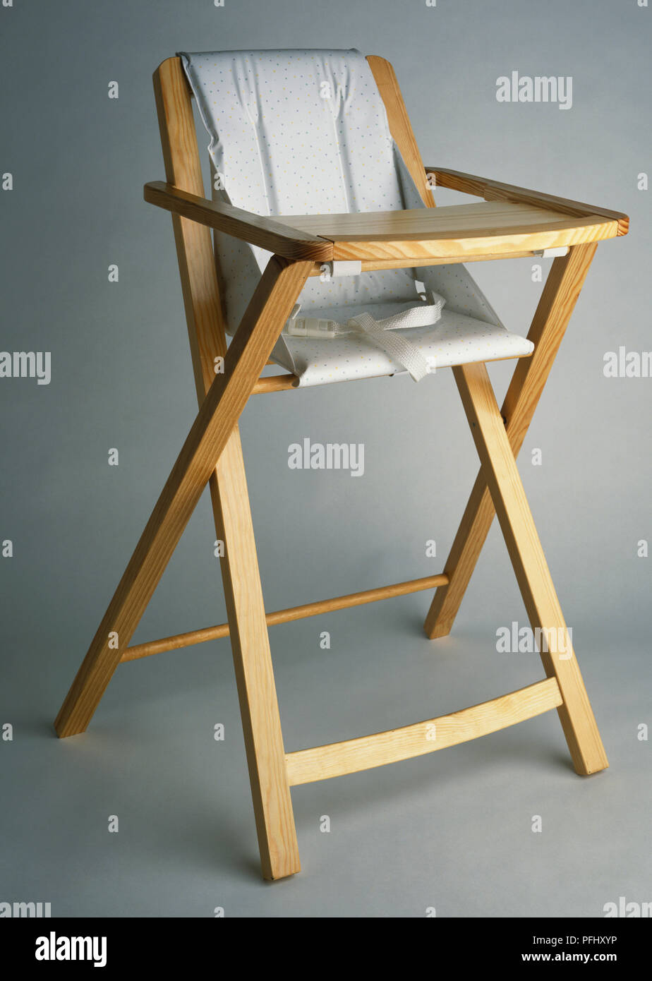 Pleasing Babys Fold Out High Chair With A Wooden Frame And White Gmtry Best Dining Table And Chair Ideas Images Gmtryco