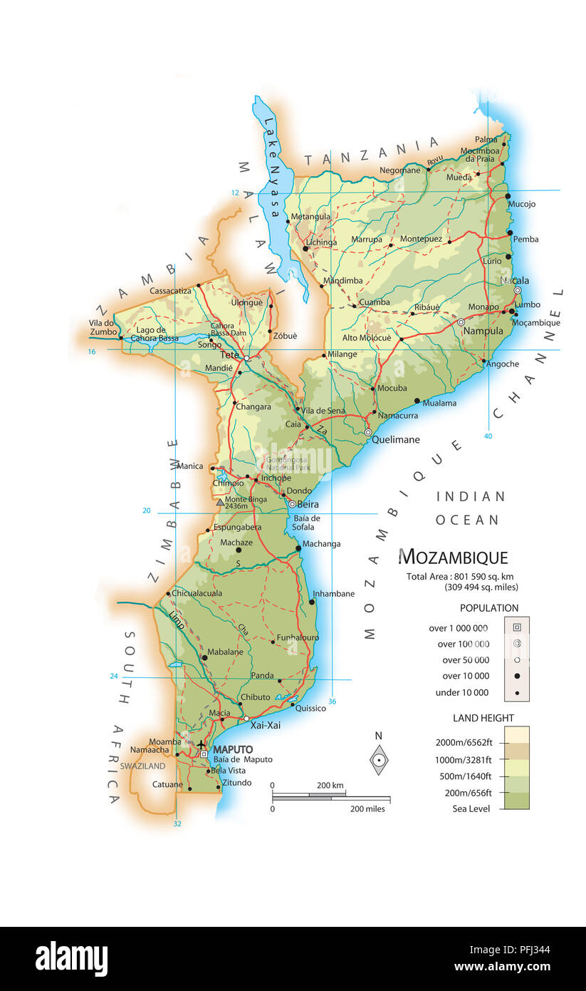 Mozambique Map Stock Photos Mozambique Map Stock Images Alamy