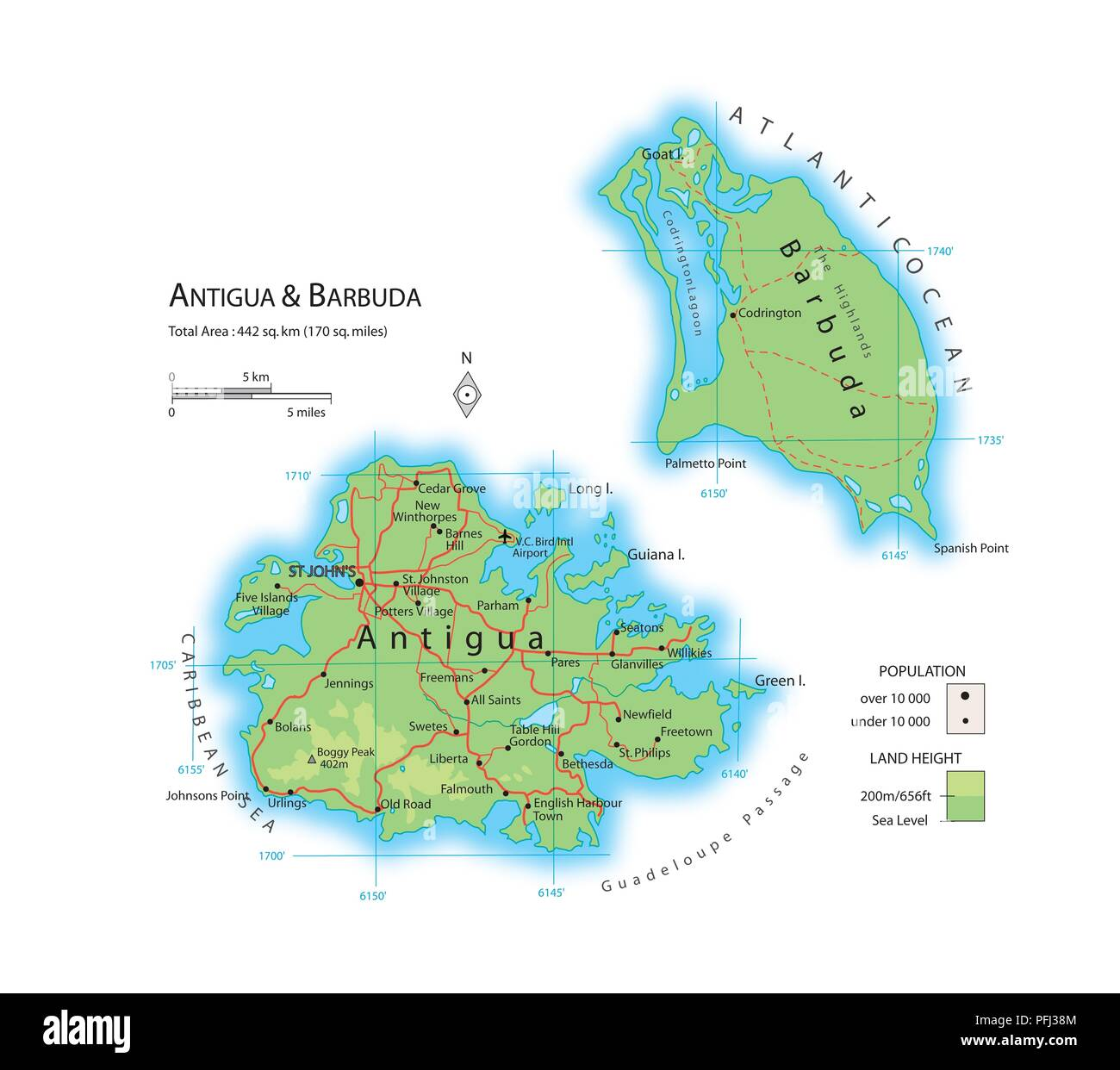 Map of Antigua and Barbuda Stock Photo: 216141988 - Alamy A Map Of Antigua on a map of estonia, a map of st.thomas, a map of moldova, a map of san juan puerto rico, a map of tuvalu, a map of nevis, a map of galapagos, a map of the leeward islands, a map of vanuatu, a map of st. lucia, a map of andorra, a map of santo domingo, a map of french polynesia, a map of windward islands, a map of anguilla, a map of los cabos, a map of st vincent, a map of seychelles, a map of kazakhstan, a map of jersey,