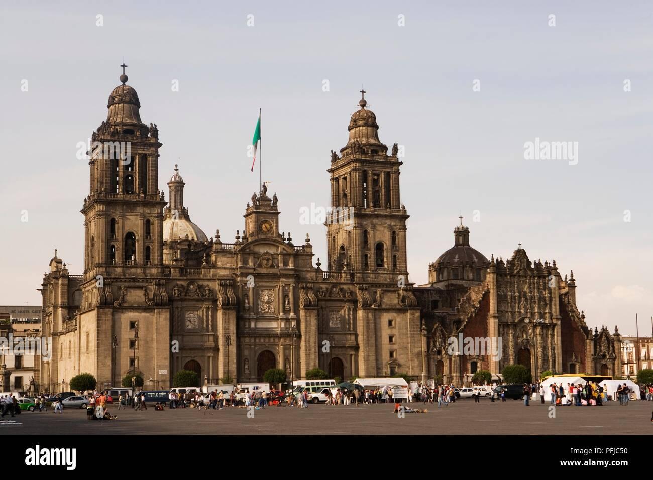 Mexico, Mexico City, Catedral Metropolitana, baroque facade - Stock Image