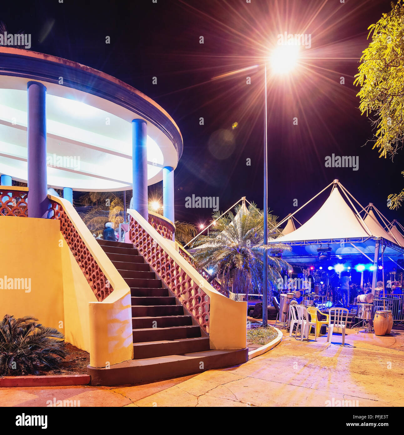 Bandstand of the city of Campo Grande - MS, Brazil. Known as Coreto da Praca Cuiaba. Stock Photo