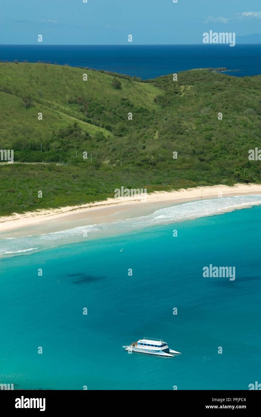 Puerto Rico Culebra Island Playa Flamenco View Of Green