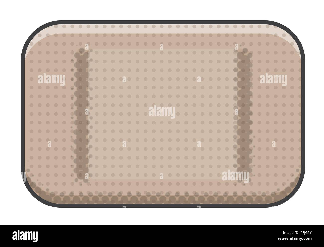 Digital illustration of waterproof plaster Stock Photo