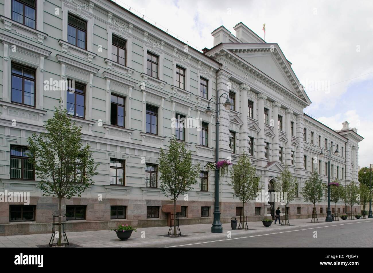Lithuania, Vilnius, New Town, Gedimino Avenue, facade of former KGB headquarters, now a museum - Stock Image