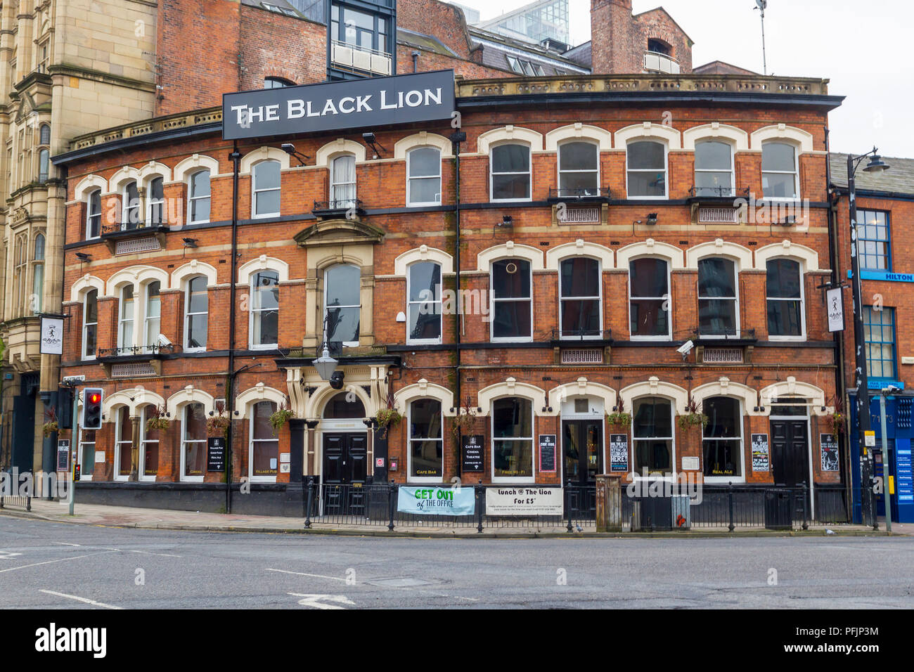 The Black Lion Pub in Manchester - Stock Image