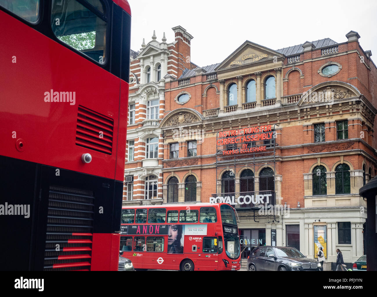 The Royal Court Theatre, Sloane Square, Chelsea, Royal Borough of Kensington and Chelsea, Greater London, England, United Kingdom, - Stock Image