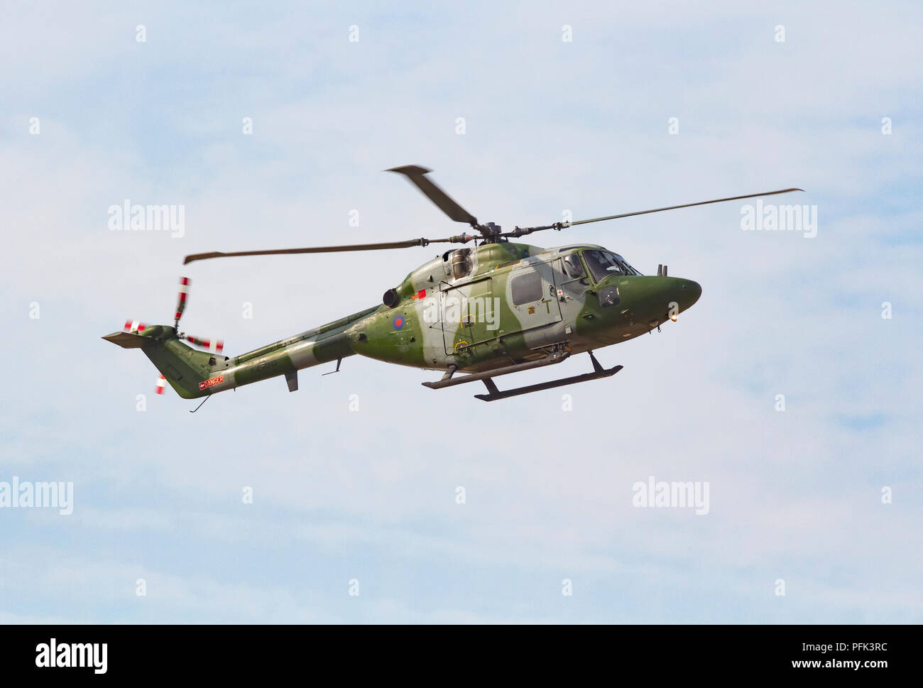 Army Air Corps Westland Lynx Helicopter at Southport Air Show - Stock Image