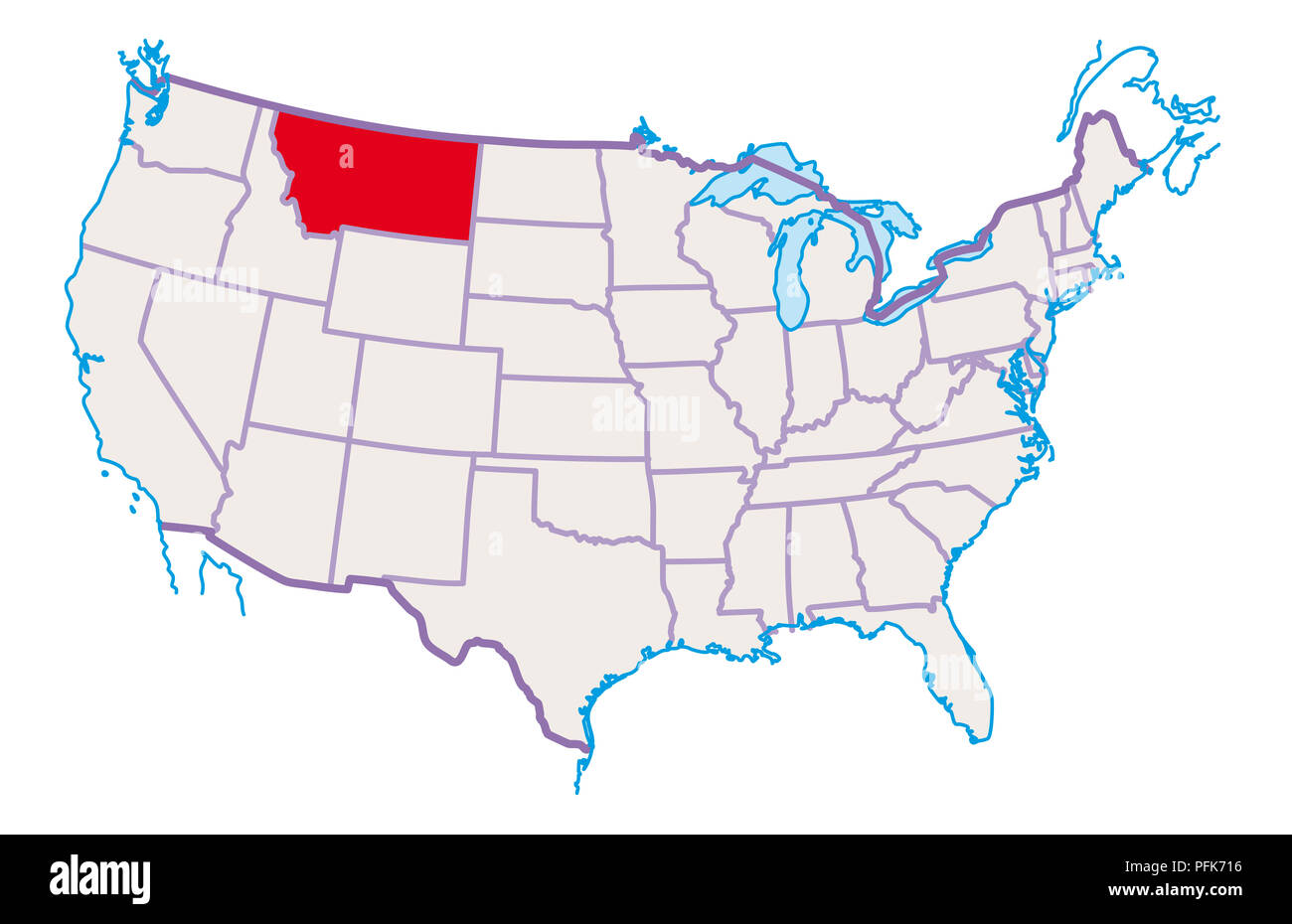 Map Of Montana Cut Out Stock Images & Pictures - Alamy Montana In Usa Map on snowflake in montana, home in montana, dinosaurs in montana, animals in montana, usa map in miami, butterflies in montana, turkey in montana, tent in montana, usa map from montana,