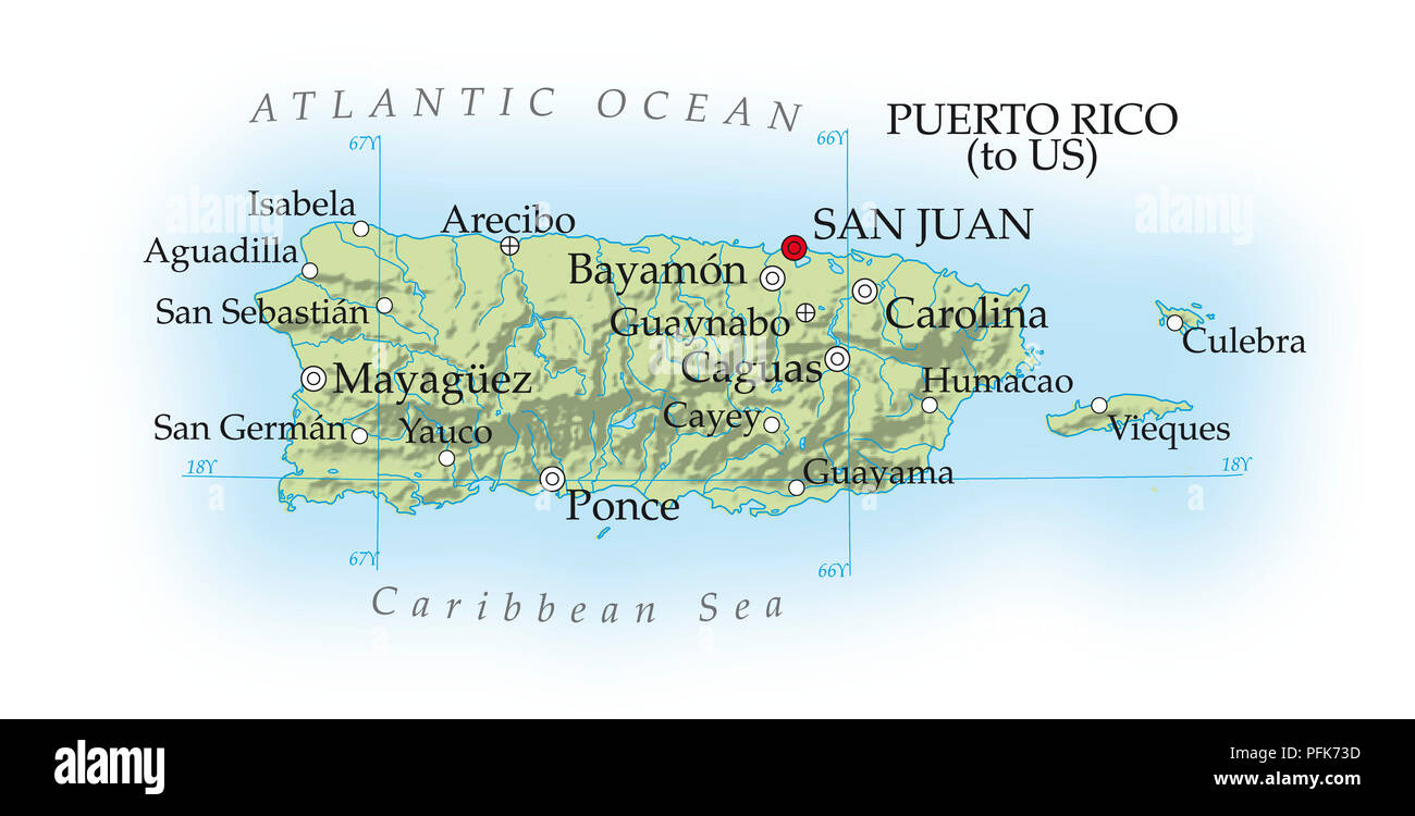 Map Of Puerto Rico Stock Photos Map Of Puerto Rico Stock Images
