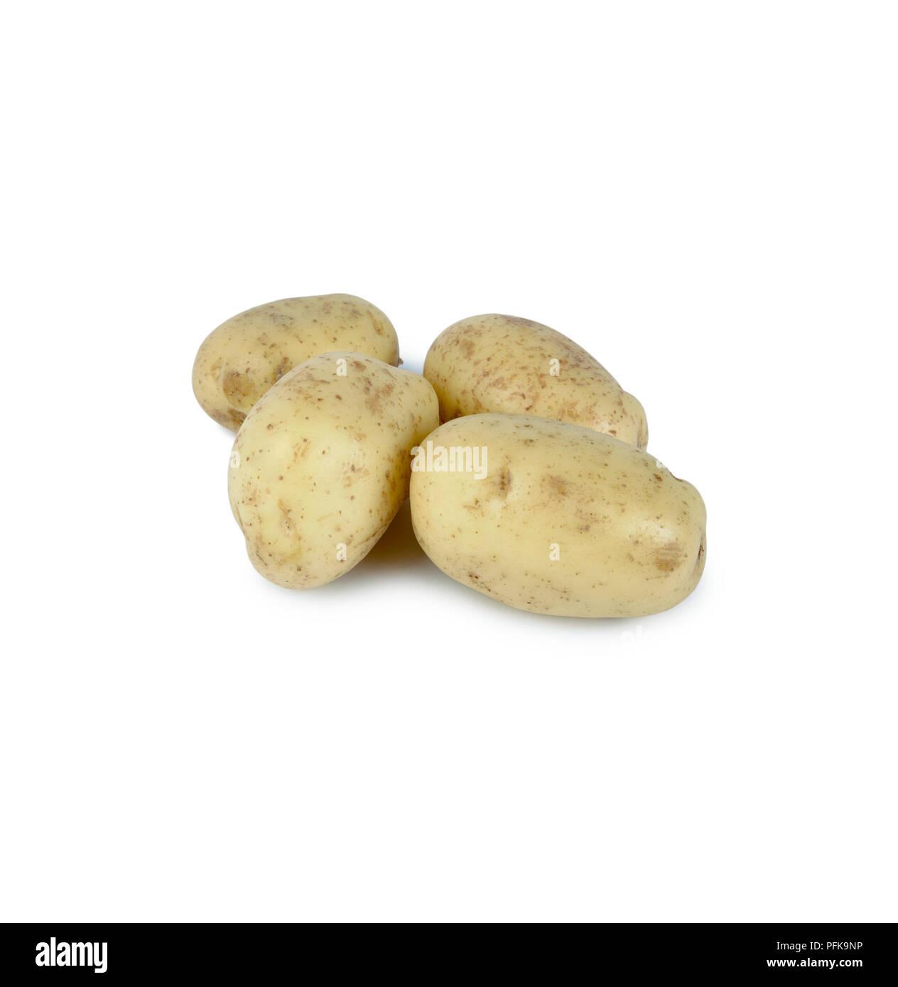Potatoes 'Vivaldi', grown in Great Britain - Stock Image