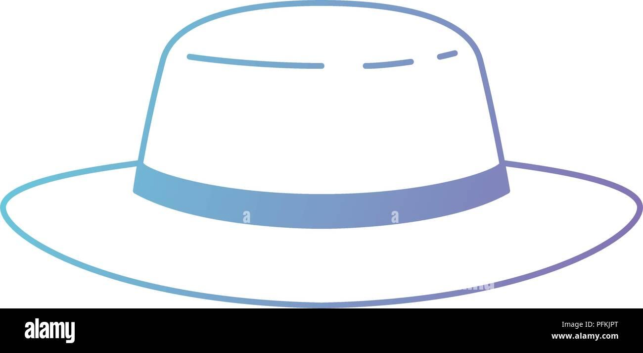 masculine elegant hat icon - Stock Image