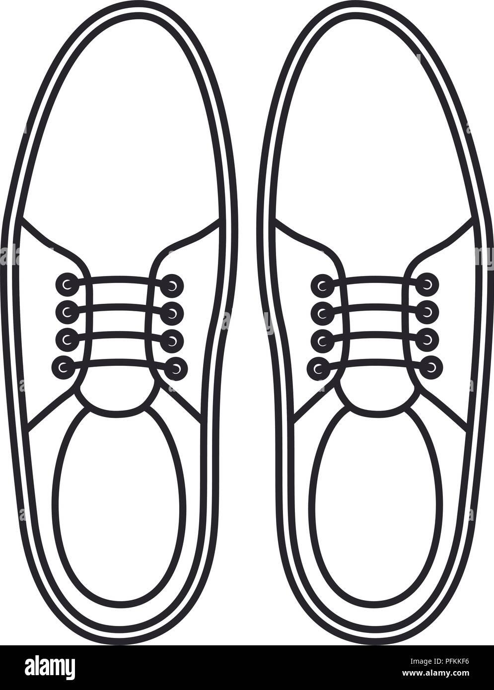 elegant masculine pair shoes - Stock Image
