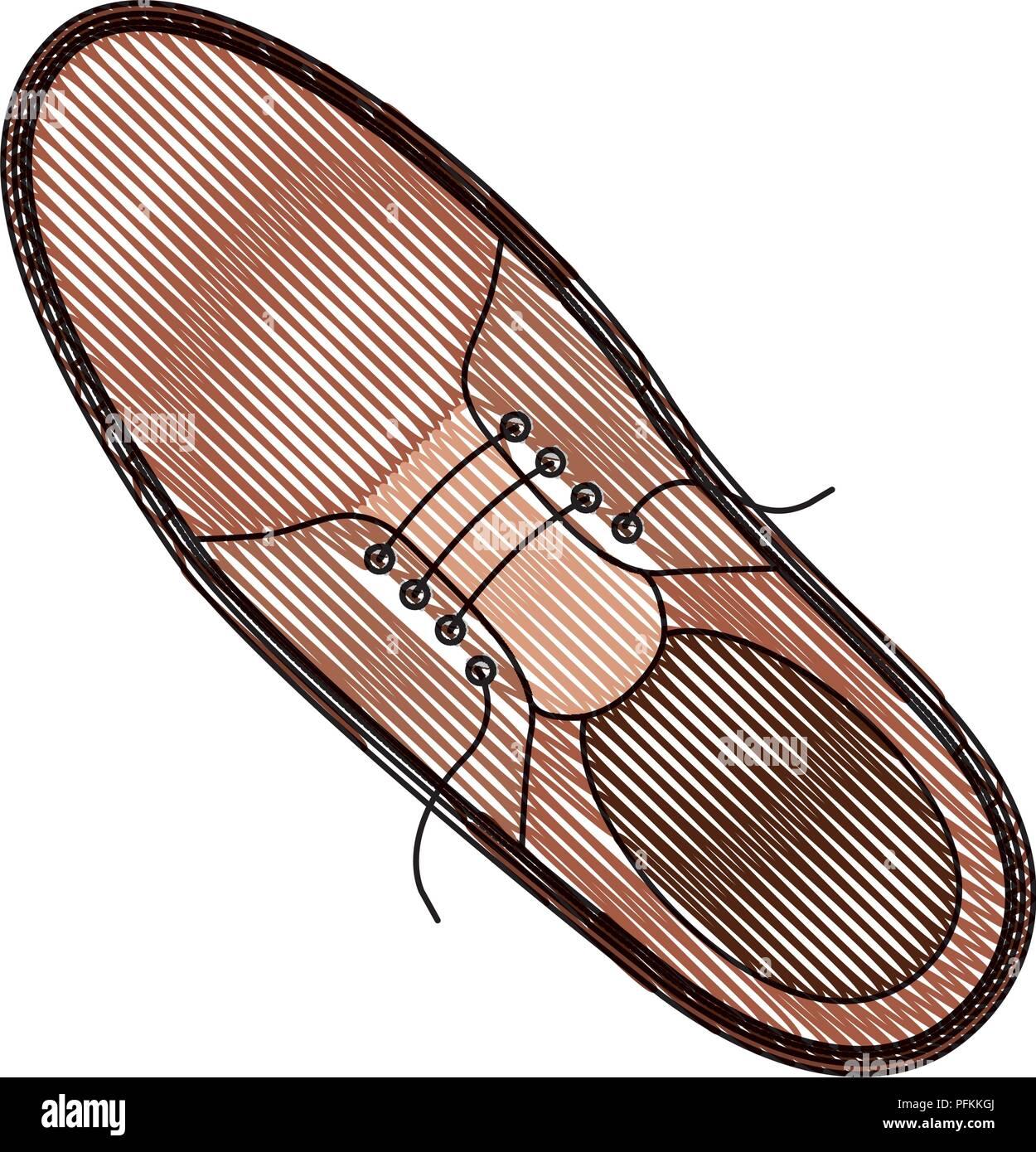 elegant masculine single shoe - Stock Image