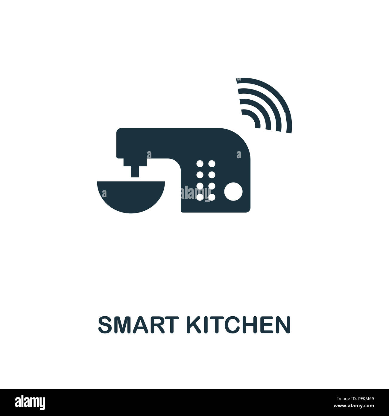 Smart Kitchen creative icon. Simple element illustration. Smart Kitchen concept symbol design from smart devices collection. Can be used for mobile an Stock Photo