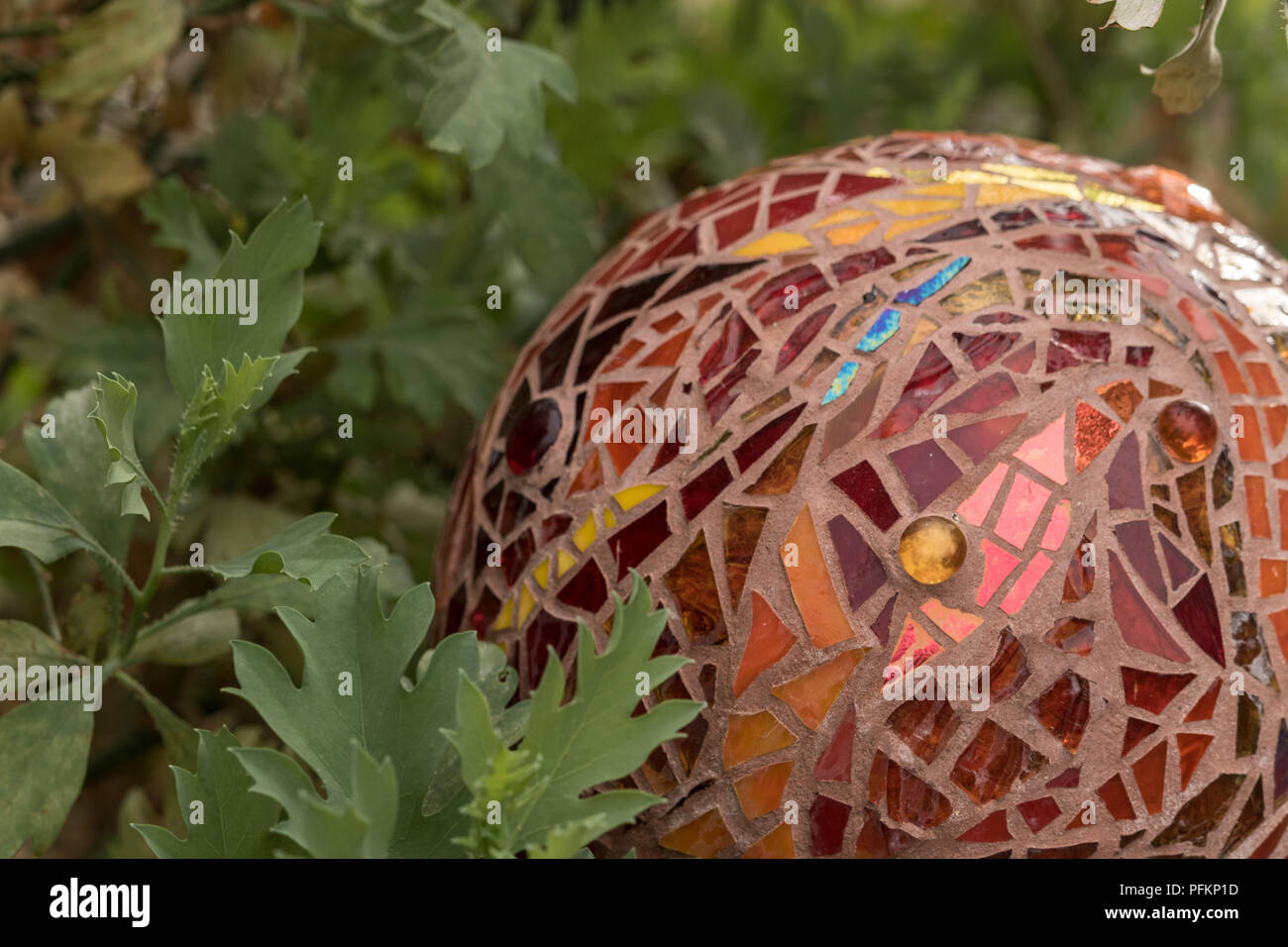 Stained Glass Garden Art Stock Photos & Stained Glass Garden Art ...